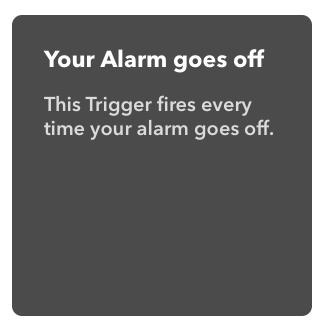 Trigger für +if bei IFTTT mit Amazon Alexa Alarm