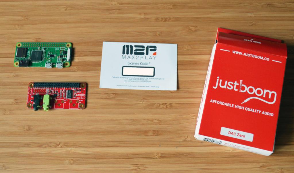 Raspberry Pi Zero W mit Justboom Dac Soundkarte