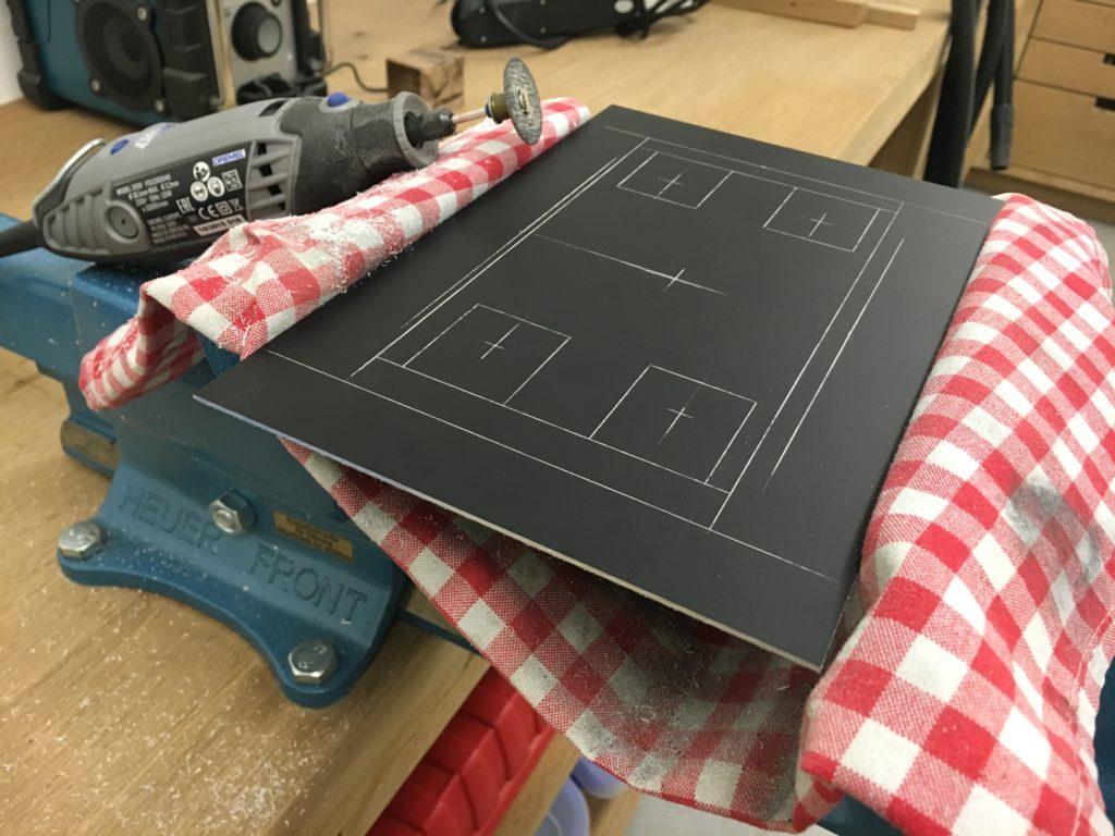 Vorderplatte aus Aluminium