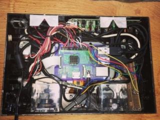 Verbaute Komponenten im Raspberry Pictureframe