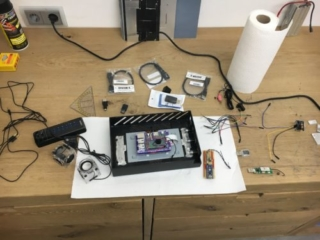 Einbau der Komponenten in das Pictureframe Projekt