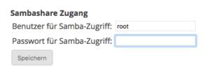 Max2Play Einrichtung eines Kennworts für die Samba Freigabe