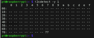 I2cdetect -y 1