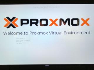 Auswahlbildschirm der Proxmox Installation