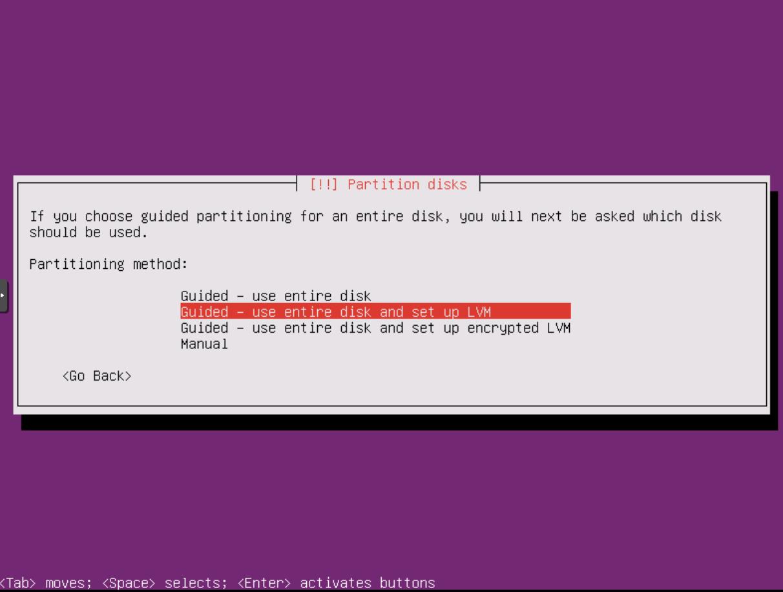 Ubuntu Installation: Partionen (LVM) 1