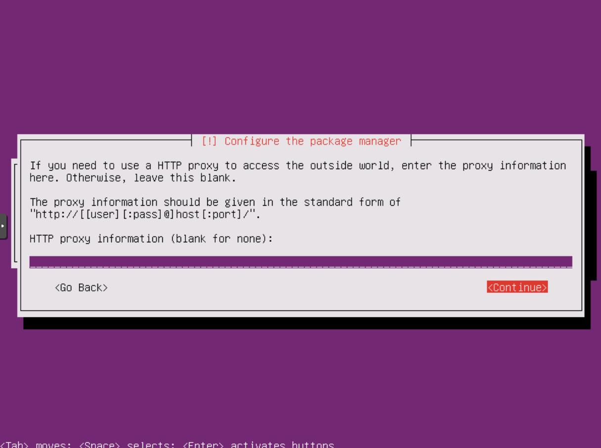 Ubuntu Installation: Proxy-Konfiguration