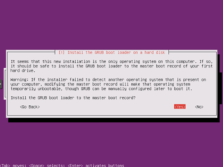Ubuntu Installation: GRUB Bootloader