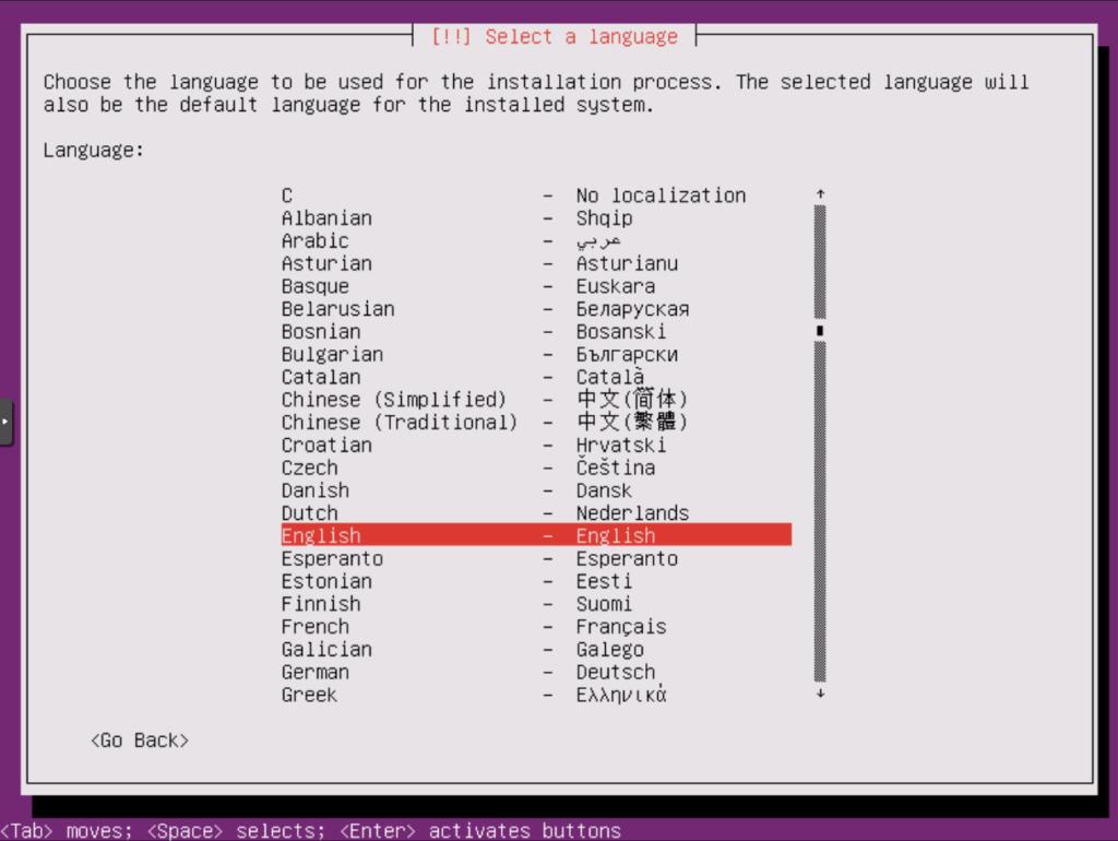 Ubuntu Installation: Sprachauswahl 2