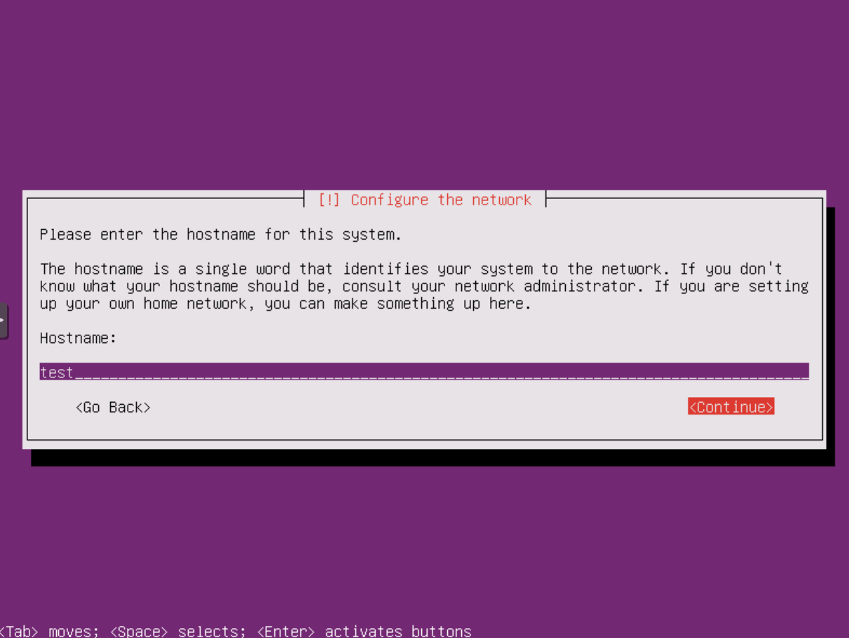 Ubuntu Installation: Netzwerk-Konfiguration