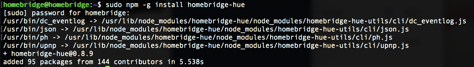 Update der Homebridge über NPM
